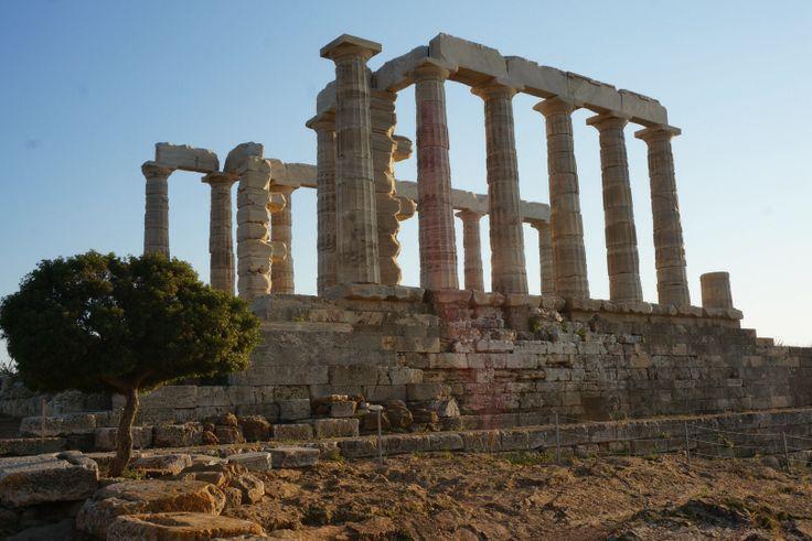 Poseidon tempel Kaap Soenion Griekenland