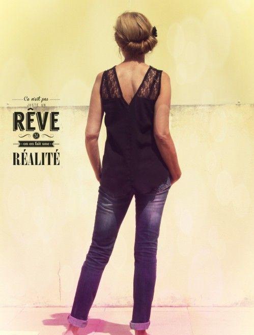Back is back de Vanessa Pouzet, en dentelle noire : magnifique