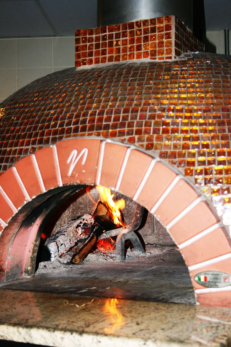 Open woodfired pizza oven glass tile wwwgreatwesternflooringcom  Great Fireplaces  Oven
