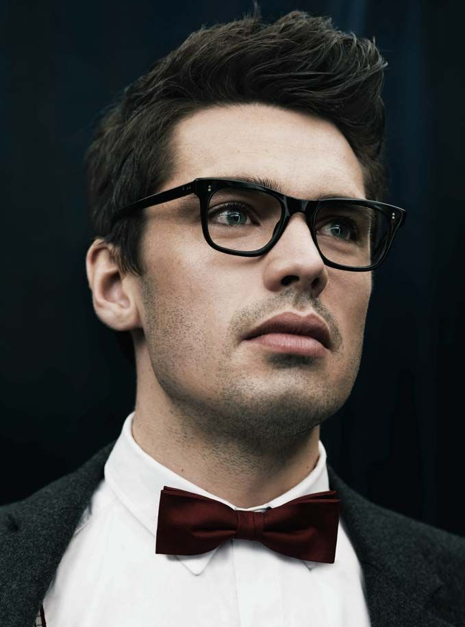 Men S Hair Style Love The Glasses And Bow Tie Fudge Can I Have