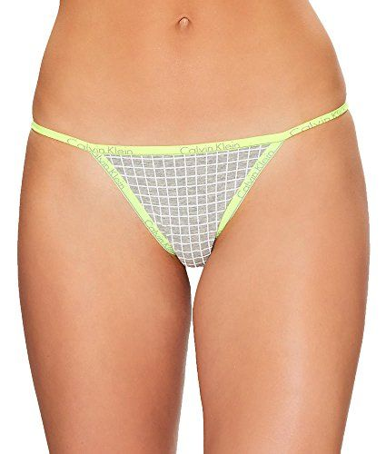 A jersey Calvin Klein Underwear thong with logo-print edges.  http://darrenblogs.com/us/2018/01/21/calvin-klein-womens-id-cotton-small-waistband-thong-string-panty/