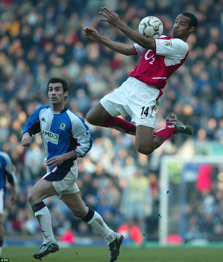Some immaculate chest control during Arsenal's visit to Blackburn Rovers in March 2003. They were beaten 2-0 that afternoon