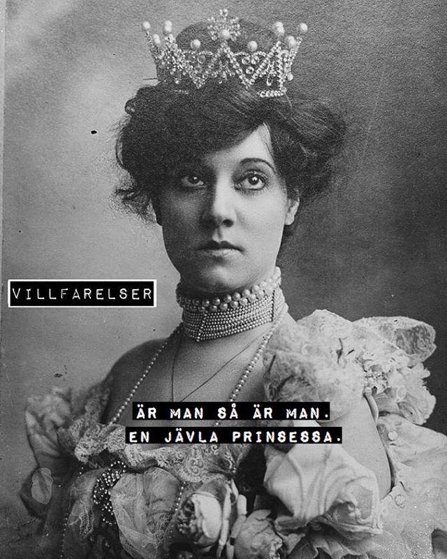 """""""En jävla prinsessa"""" #enjävlaprinsessa #prinsessa #ärmansåärman #villfarelser #humor #ironi #allvar #text #tryck #foto #bild #poesi #konst #kultur"""