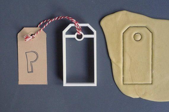 Present tag cookie cutter 3D printed by Printmeneer on Etsy, €5.50