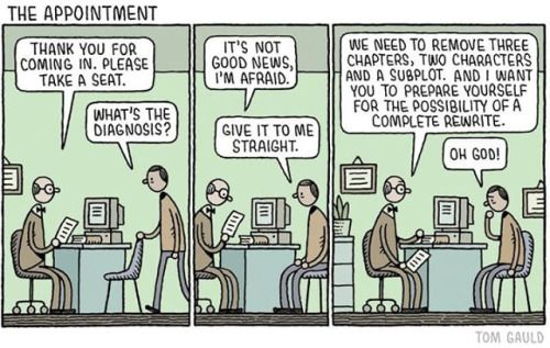 For the Guardian Review. #tomgauld #cartoon #surgery... #YOU_RE_ALL_JUST_JEALOUS_OF_MY_JETPACK #Tom_Gauld #Arsetculture