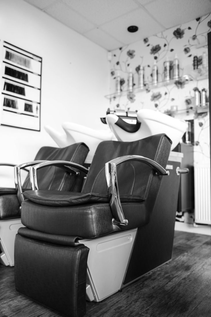 Our lovely massage backwash chairs.  Feet up...and relax
