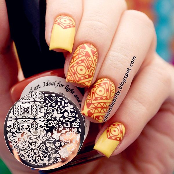 51 best nail stamps images on pinterest make up beautiful and 199 arabesque butterfly nail art stamp template image plate born pretty bp79 bornprettystore prinsesfo Images