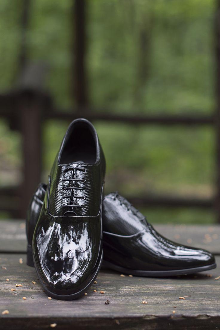 Buty Podwyzszajace Eleganckie Czarne Lakierowane Dress Shoes Men Oxford Shoes Dress Shoes