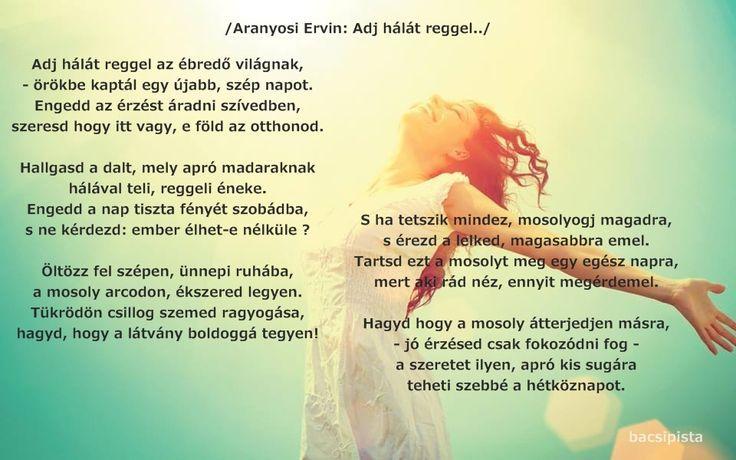 Aranyosi Ervin: Adj hálát reggel