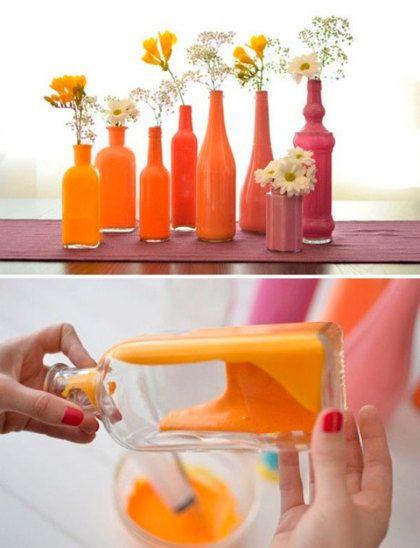 Maken: vrolijke kleurenvaasjes