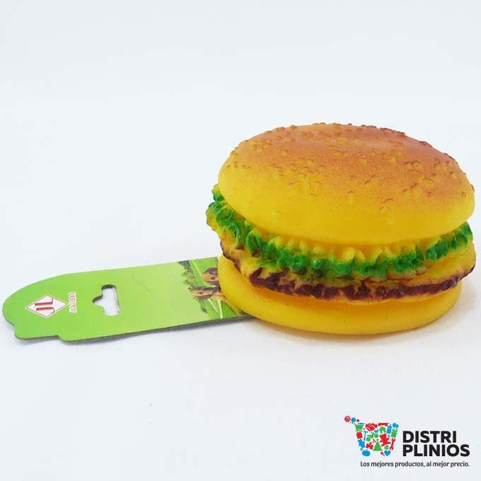 Juguete Para Perro En Forma Hamburguesa Divertidos juguetes en forma de hamburguesa con sonido en plastico, ideal para mascotas. Medidas Alto 5 cms Diametro 27 cms Para ventas al por mayor comuníquese al 320 3083208 o al 3423674 en Bogotá