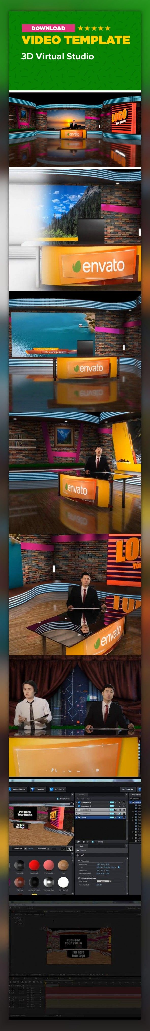 3d, announcer, broadcast, news, newscaster, reporter, room, show, sport, stand up, studio, talk show, tv, virtual, weather This is an After Effects project to easily create your own studio with minimal budget. Just shoot your video on chroma key and put it to the studio. Easy to customize edit and redesign studio.   	Main Features:   Fully and easy Customizable The camera animation can be customized Editable objects Full HD 1080p (Resizable) Element 3D v2 plugins required Placeholders for…