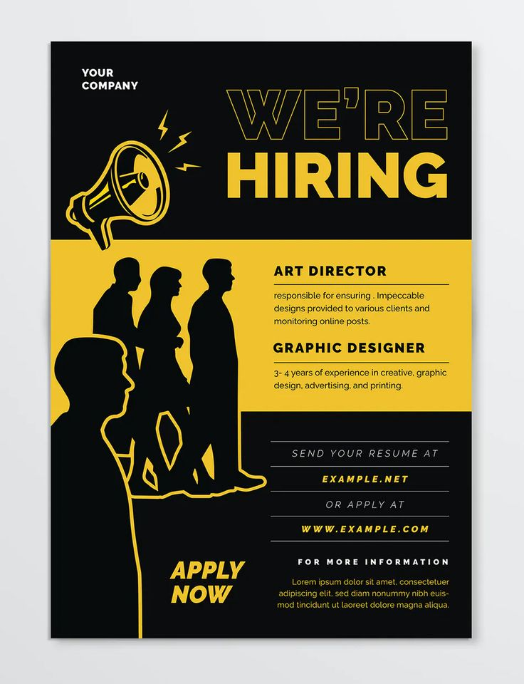 We Are Hiring Flyer Design in 2020 Flyer design