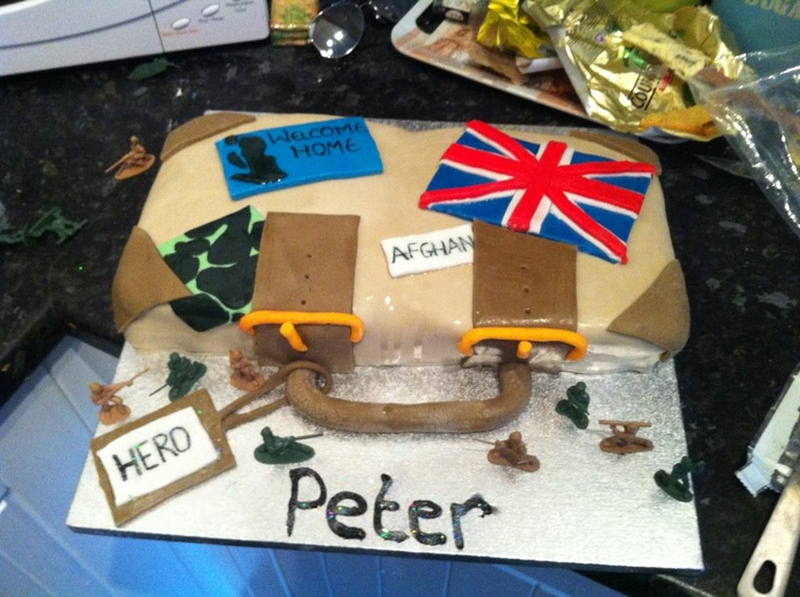 Uk Soldier Welcome Home Cake!
