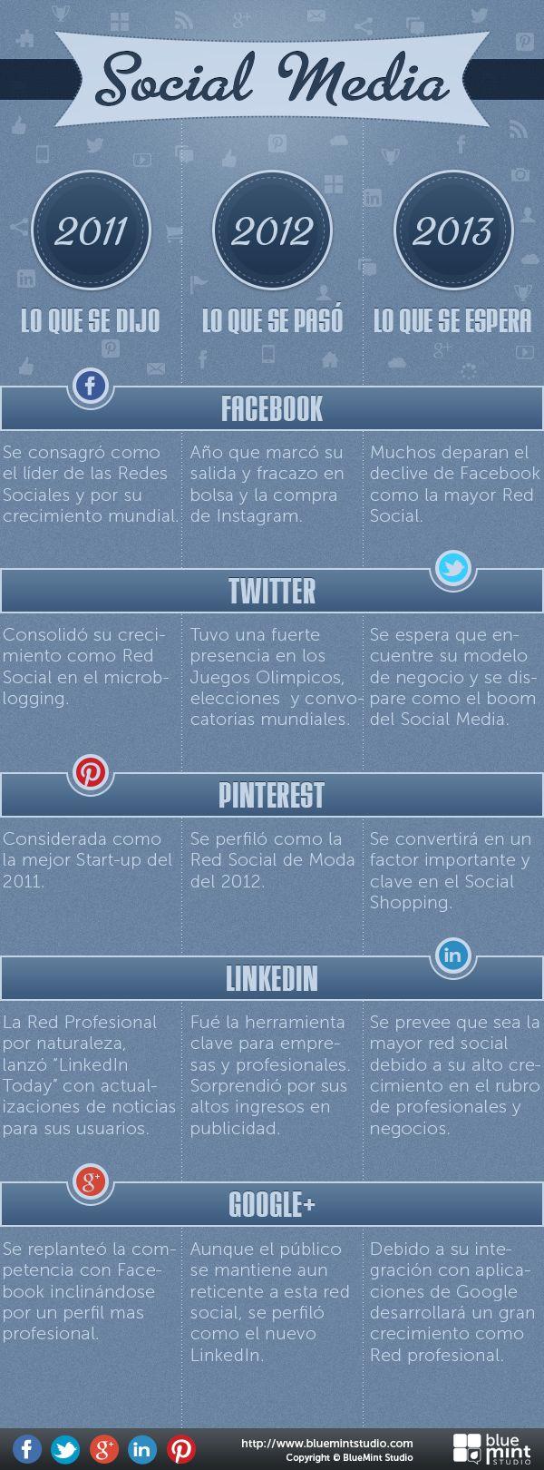 Lo que se dijo, Lo que paso y lo que se espera del #SocialMedia #infografía
