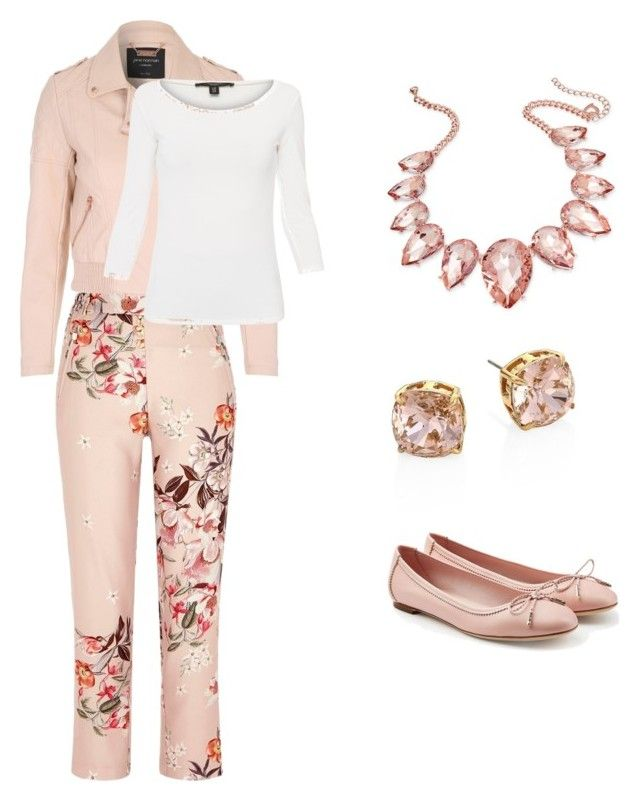 """""""Pretty in pink"""" by ksmith7802 on Polyvore featuring River Island, Jane Norman, Salvatore Ferragamo, Thalia Sodi, Tory Burch and Weekend Max Mara"""