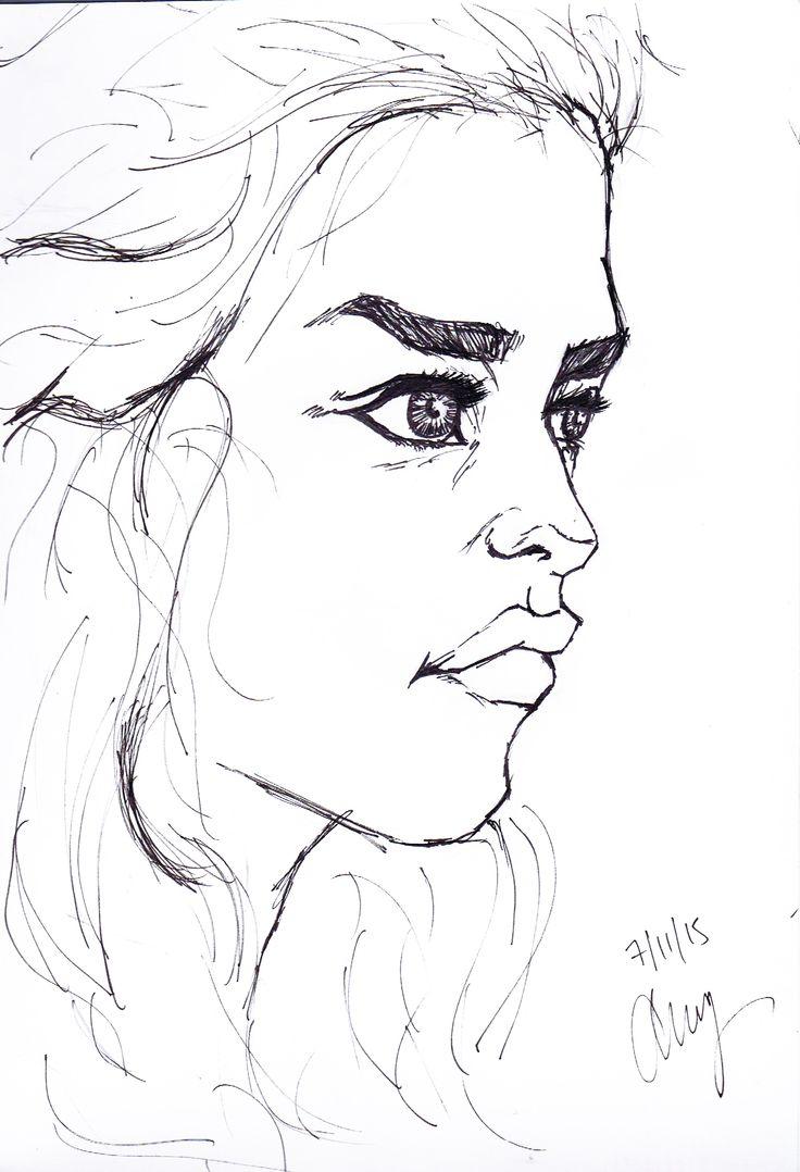 Daenerys - By Anthony Keutzer #GoT #GameOfThrones #Art #FanArt #Sketch #Danny #Daenerys #Sketch #Lips