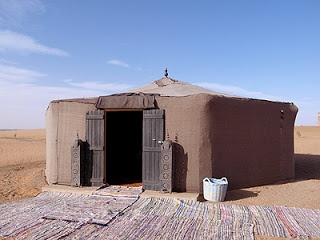 VIP tent in the desert, Sahara. With shower and toilet