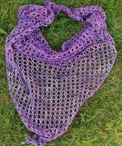 háčkovaný šátek, návod zdarma, malabrigo lace