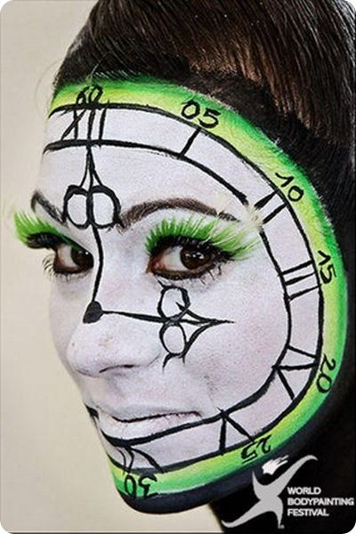 clock paintings | body painting painting models body painted world bodypainting festival ...