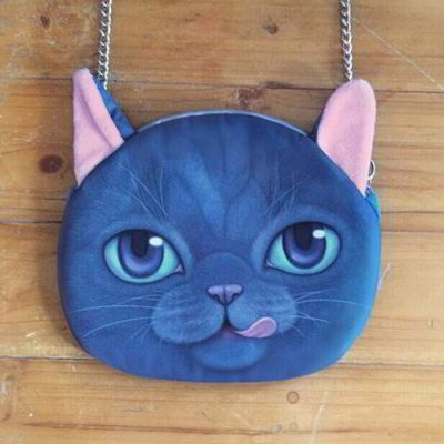 Kitten Cat Pattern Decorated Chian Design Sapphire Blue. Cute and elegance REPIN if you agree.😊 Only 215 IDR