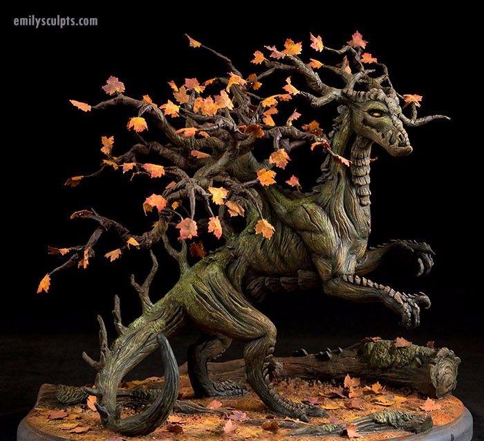 Arbori – mistyczni strażnicy lasu w formie figurek uroczych drzewnych stworzeń.