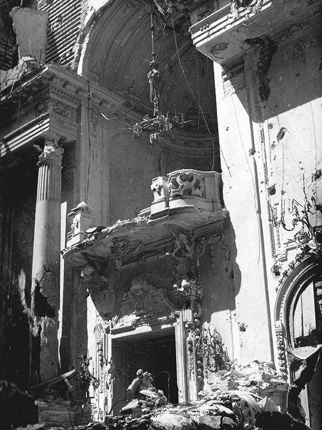 Budai vár, a Királyi Palota báltermének romjai
