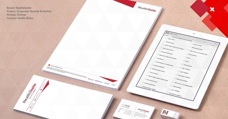 Brand: Health|Insite  Project: Corporate Identity Evolution  Format: Various  Country: South Africa
