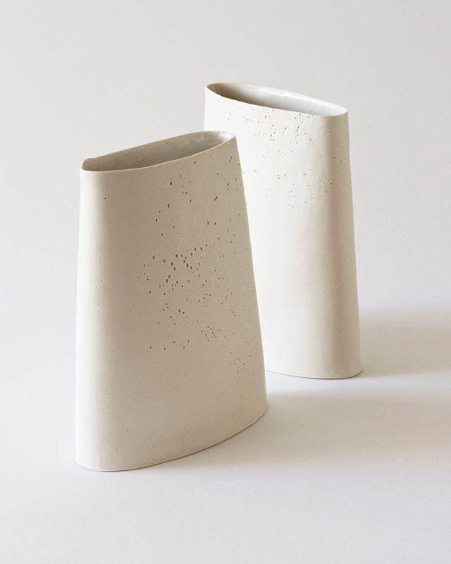 Minimal Sculptural Delicate Ceramic Porcelain Vases By Yasha