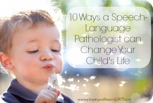 How can a speech therapist help a child
