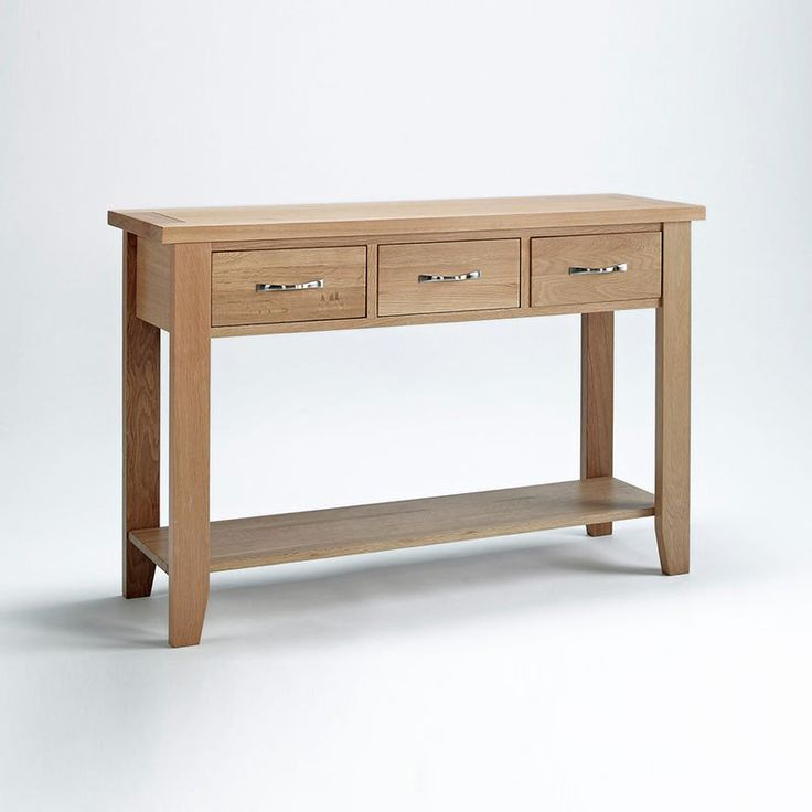 mobel solid oak console. Sherwood Solid Oak Console Table (Size Small, Large) - Large Mobel