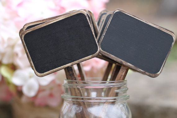 Chalkboard Table Numbers Sticks Rustic by MichelesCottage on Etsy