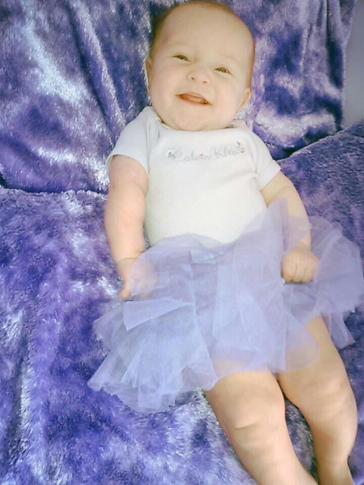 Purple tutu baby