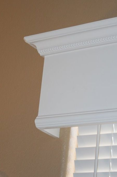 Great way to quickly and inexpensively make a huge upgrade that looks great by making wooden window valance. Awesome step by step instructions!