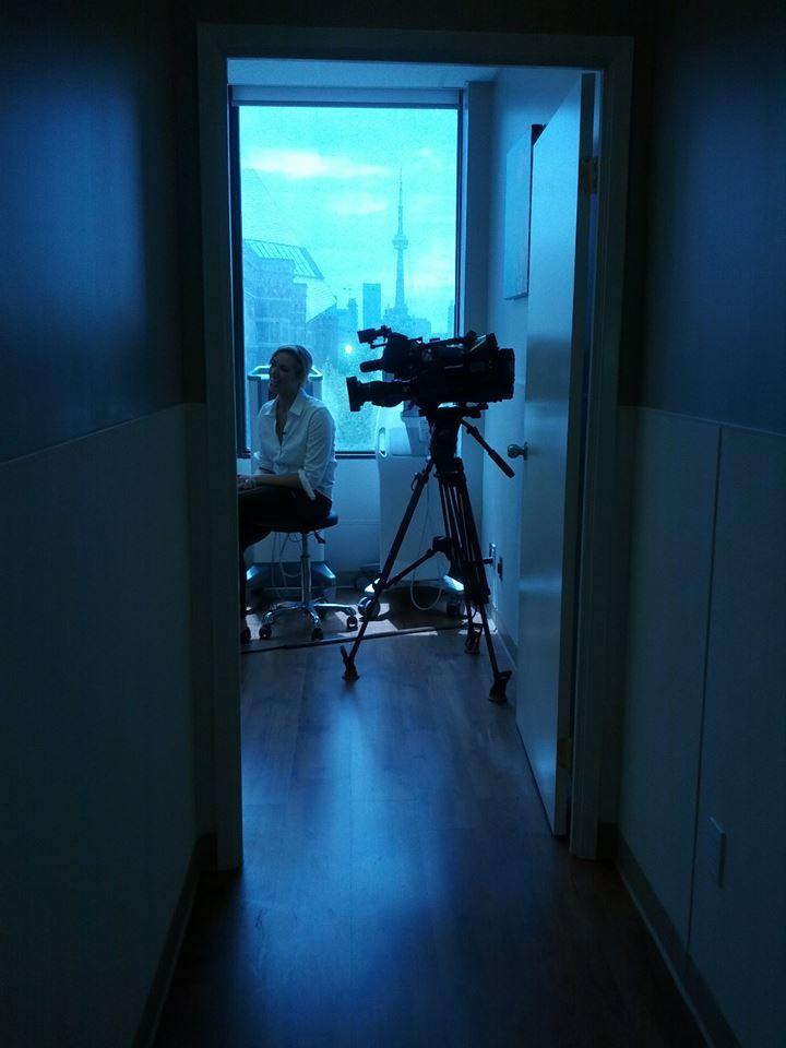 #SunNews at #DermatologyonBloor interviewing Dr. Sam Hanna for Melanoma Awareness Month!