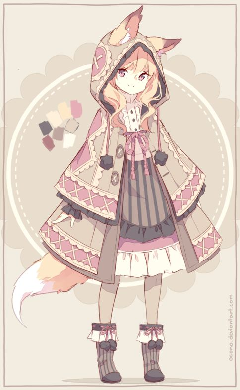 [CLOSED] ADOPTABLE | Fox Girl by ocono.deviantart.com on @DeviantArt