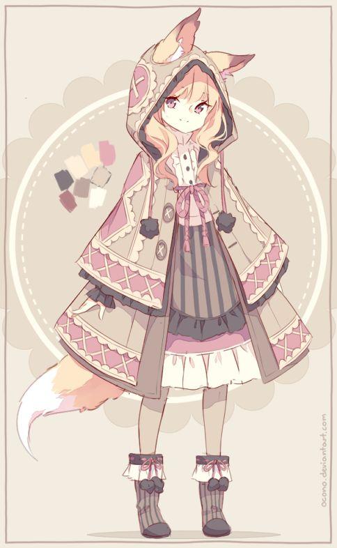 [CLOSED] ADOPTABLE   Fox Girl by ocono.deviantart.com on @DeviantArt