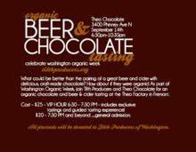 Organic Beer, Cider & @TheoChocolate Tasting! #heaven #love Sept 14 2012 thanx @TilthProducers