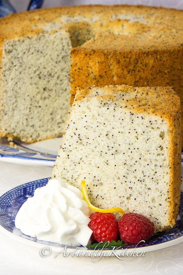ArtandtheKitchen: Poppyseed Chiffon Cake, my Mom's recipe for light, fluffy chiffon cake