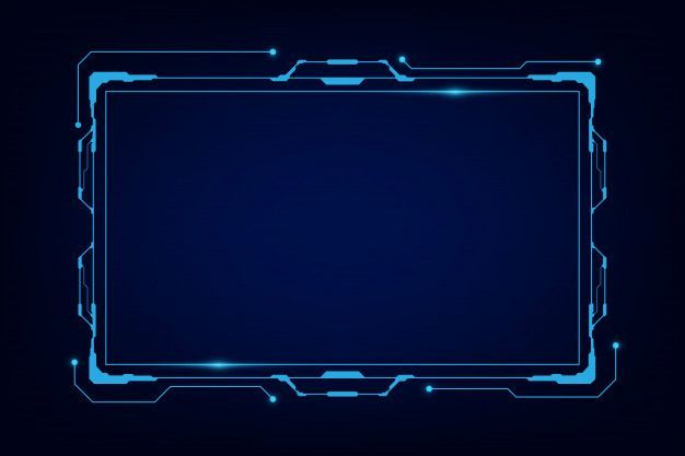 Modern Technology Frame Template Template Design Youtube Design
