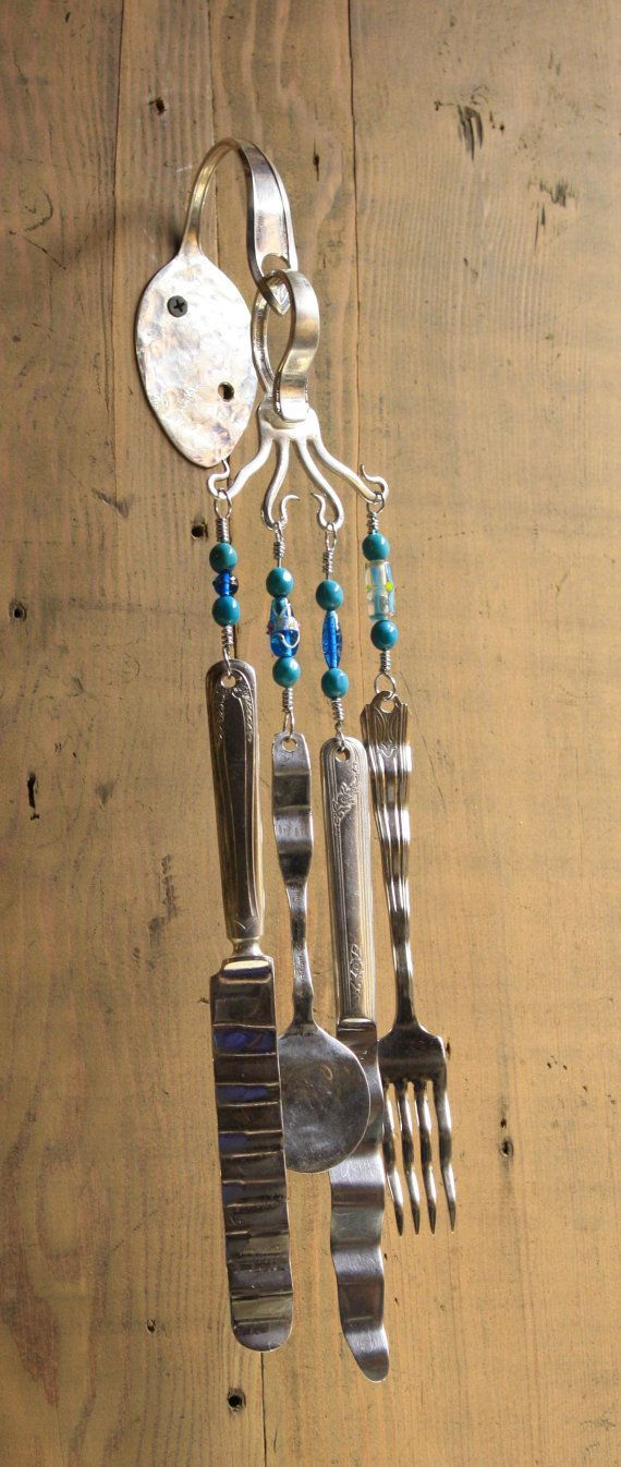 17 best images about wind chimes on pinterest flatware for Wind chimes out of silverware