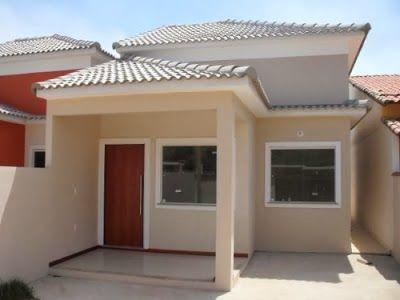Fachadas de Casas Simples, Bonitas e Pequenas!