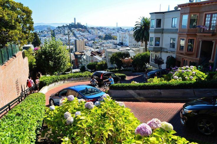 Lombard Street #San #Francisco #SanFrancisco #California #Kalifornien #USA #America #LombardStreet #Lombard #Street #Travel #Sevärdhet
