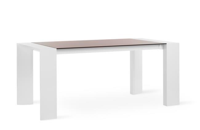 Tavolo in legno e vetro fisso