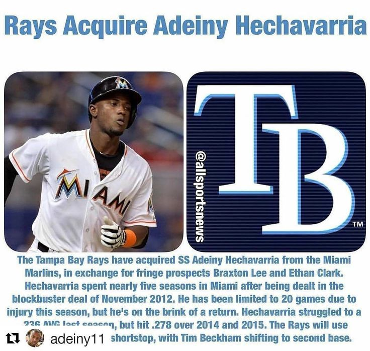 Well deserved my man @adeiny11 ..go Get yours  #Repost @adeiny11 (@get_repost)  I want to thank the marlins organization for these wonderful 4 years I appreciate the Marlins organization for the opportunities they've given me for letting me be there starting shortstop and I especially want to thank the fans for supporting me throughout these years! And for coming out to watch me play!/Quiero Darle las gracias a la organización de los marlins por darme la oportunidad de  jugar los últimos 4…