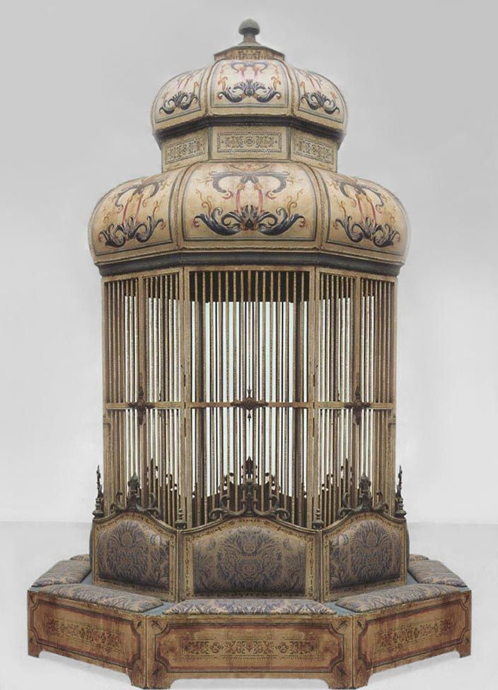 Italian Venetian Misc Furniture Bird Cage Painted Pinterest Antique Cages And