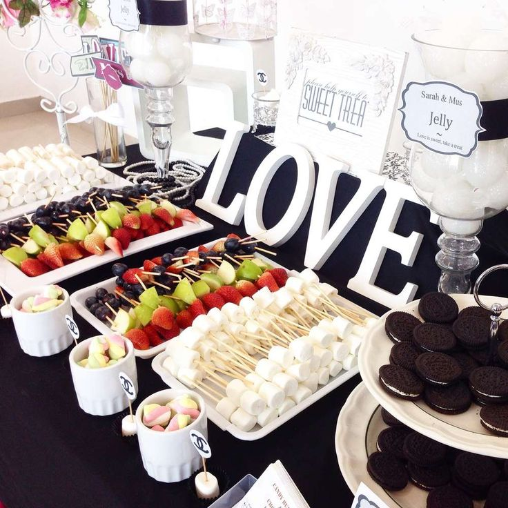 Chanel themed wedding party!  See more party planning ideas at CatchMyParty.com!