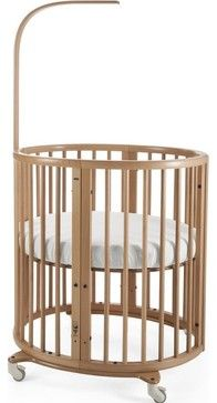 Sleepi Mini  Round Crib Cradle, Natural, Mini Crib contemporary-cradles-and-bassinets