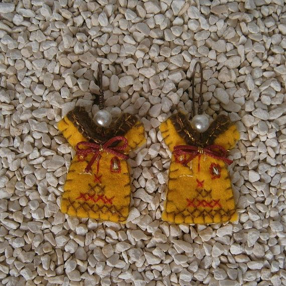 Check out this item in my Etsy shop https://www.etsy.com/listing/520271191/handmade-earrings-felt-dangle-jewelry