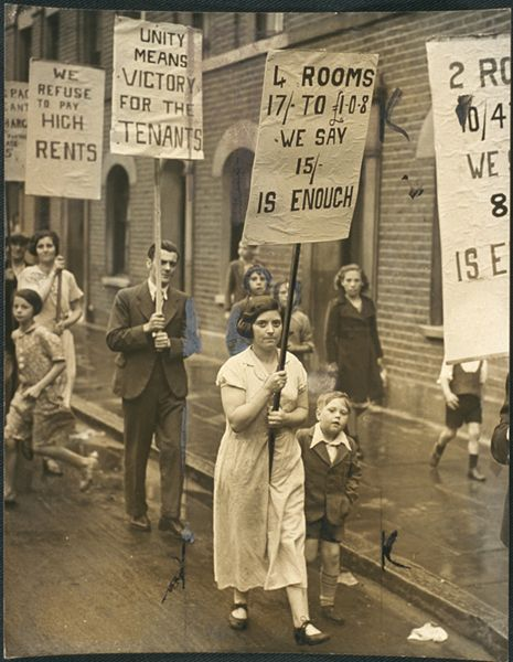 Rent strike demonstration in East End, 7 August 1938, Daily Herald Archive, National Media Museum Collection / SSPL